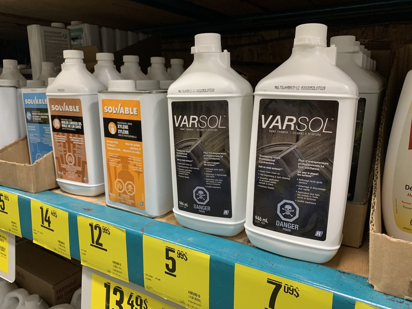 Diluant à peinture Varsol Recochem – action collective nationale
